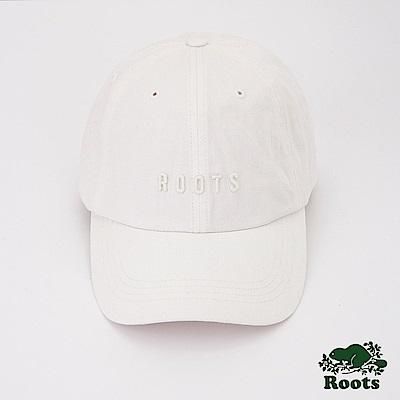 Roots配件- 經典刺繡棒球帽-白