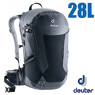 德國 Deuter Futura 28L 輕量網架式透氣背包(附防水背包套)_黑