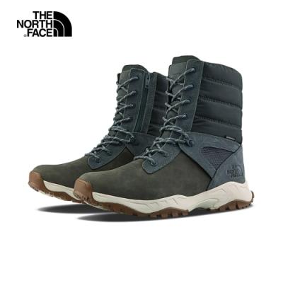 The North Face北面男款藍灰色防水保暖中筒靴|4OAI9T3