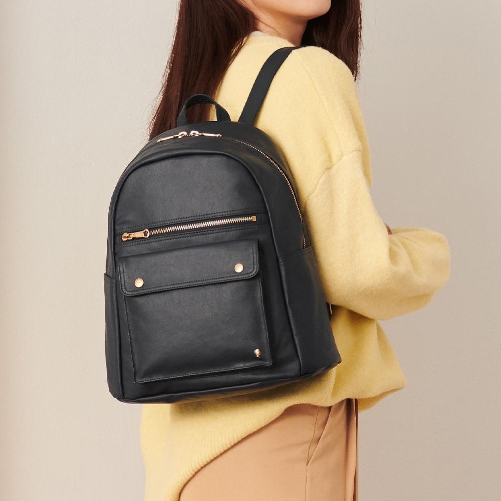 PORTER - 輕甜繽紛SPIRIT質感時尚後背包 - 黑(金)