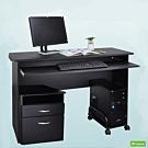 DFhouse黑森林附鍵盤電腦桌+主機架+活動櫃-2色 辦公椅 122*49*76