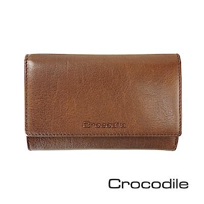 Crocodile Naturale系列三折中夾 0116-13004-02