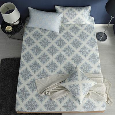 LASOL睡眠屋-100%奧地利天絲 雙人床包枕套三件組230織 風花雪月