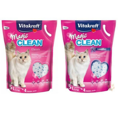 德國Vitakraft Magic clean神奇抗菌水晶貓砂5L(2.2kg)【六包組】