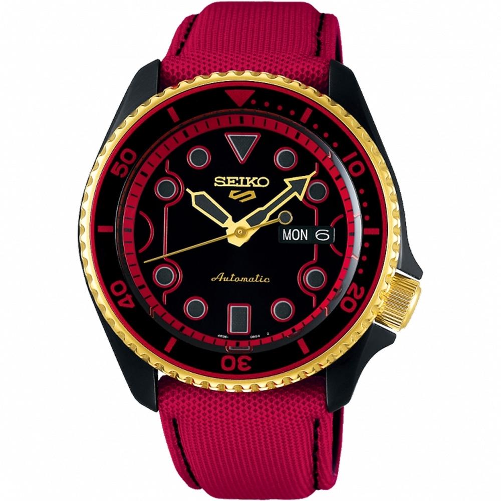 SEIKO 精工 5 Sports x 快打旋風 聯名限量機械錶-肯-42.5mm
