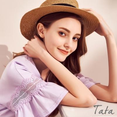抓褶扭結凹頂草帽 共二色 TATA-F