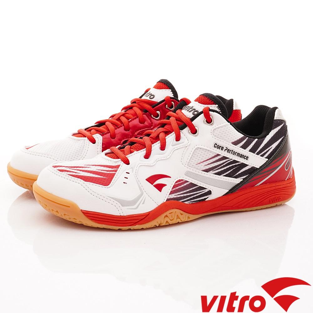 Vitro韓國專業運動品牌-BLAZEⅢ-頂級專業桌球鞋W/R-白紅(男)