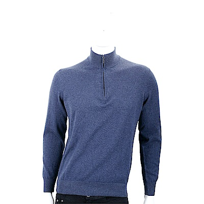 Andre Maurice 喀什米爾暗礦藍拉鍊羊毛衫(男款)