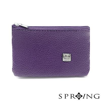 SPRING-特價-微風城市鑰匙圈雙層零錢包-神秘紫