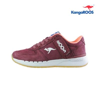 KangaROOS COMBAT 經典口袋女慢跑鞋 酒紅 KW91022