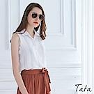 氣質條紋背心襯衫 共二色 TATA