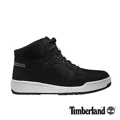 Timberland 男款黑色Raystown皮革搭布料休閒鞋