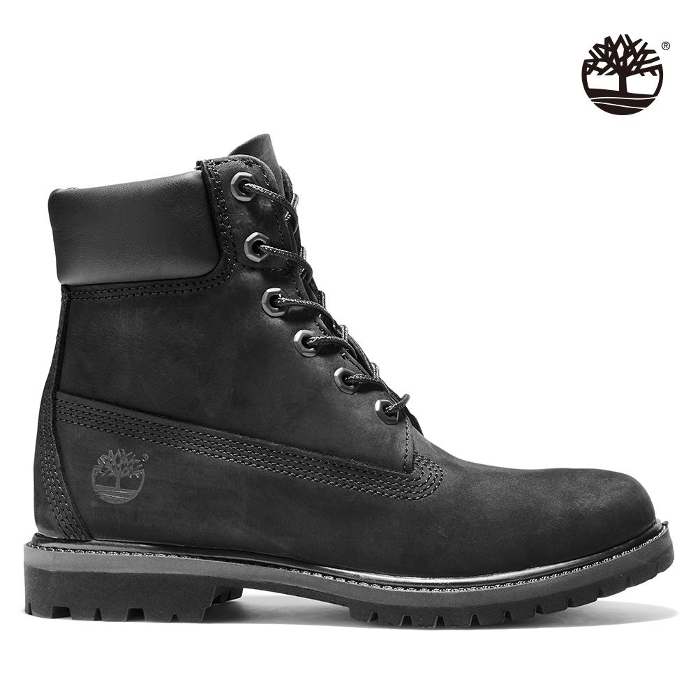Timberland 女款黑色磨砂皮革六吋靴|8658A
