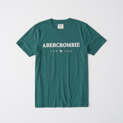 AF a&f Abercrombie & Fitch 短袖T恤綠色 1348