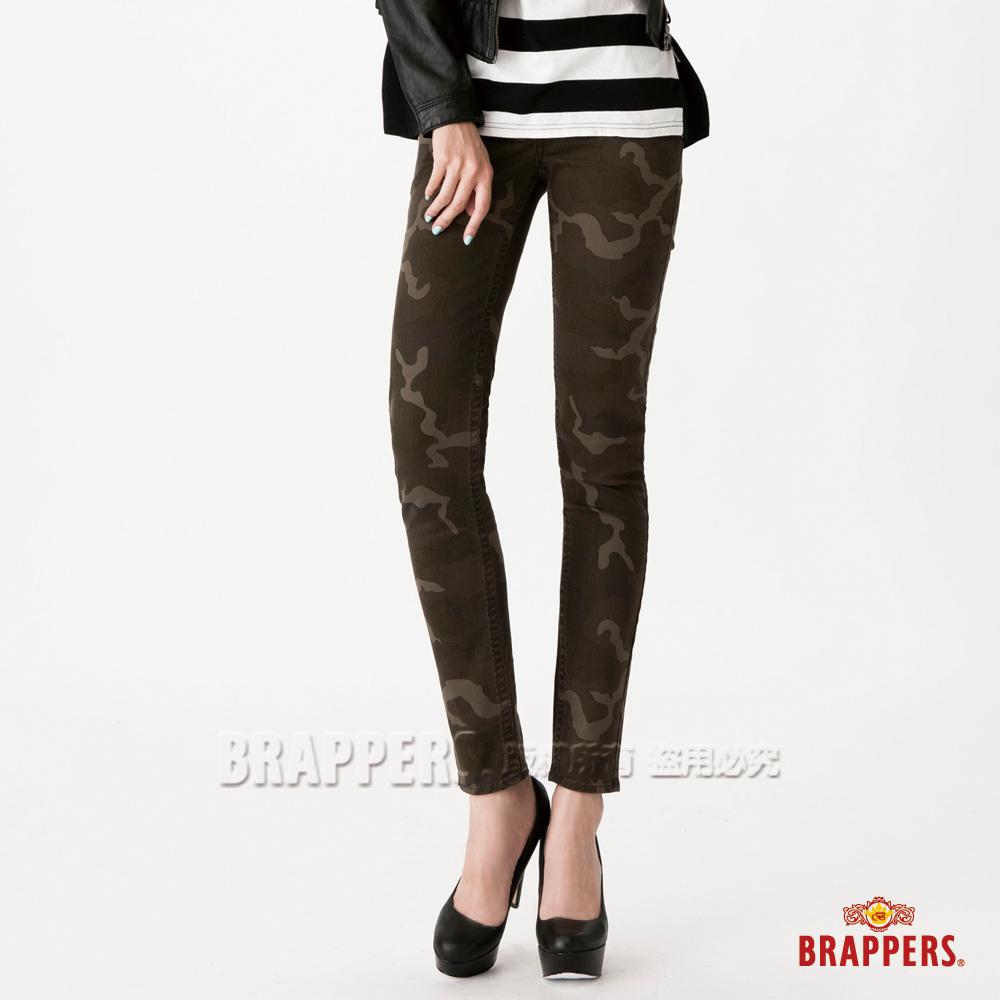 BRAPPERS 女款 女用彈性迷彩九分褲