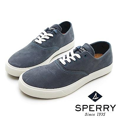 SPERRY 玩色魅力輕量牛皮休閒鞋(男)-土耳其藍
