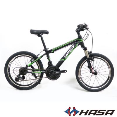 HASA COMP2.0 20吋18速鋁合金青少年單車/童車-消光黑綠