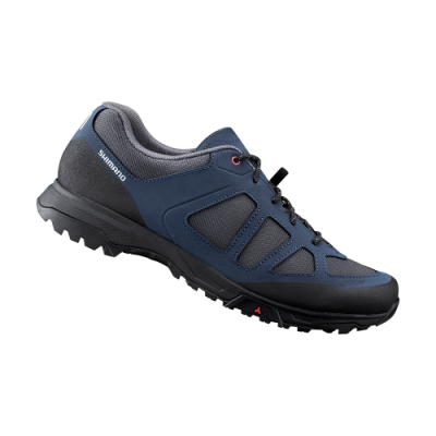【SHIMANO】ET300 男款休閒平底車鞋 加大旅行鞋楦 海軍藍