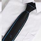 拉福 領帶藍邊領帶6cm領帶拉鍊領帶(兒童)