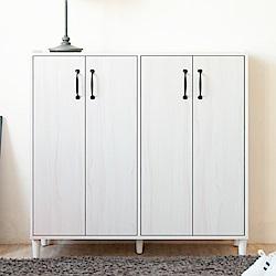 《HOPMA》DIY巧收雙開四門鞋櫃-寬95 x深32 x高91cm