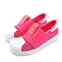 ADIDAS-中大童休閒鞋AQ0203-桃紅