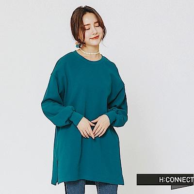H:CONNECT 韓國品牌 女裝-後印字舒適感上衣-綠