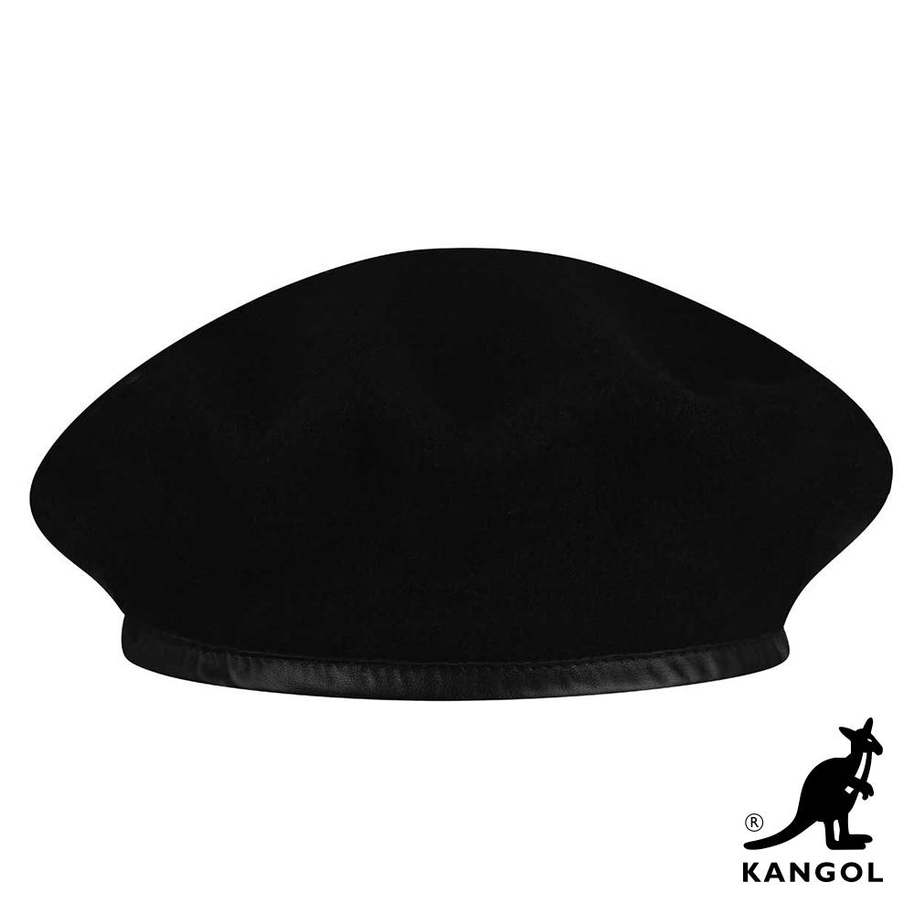 KANGOL-WOOL MONTY貝蕾帽-黑色