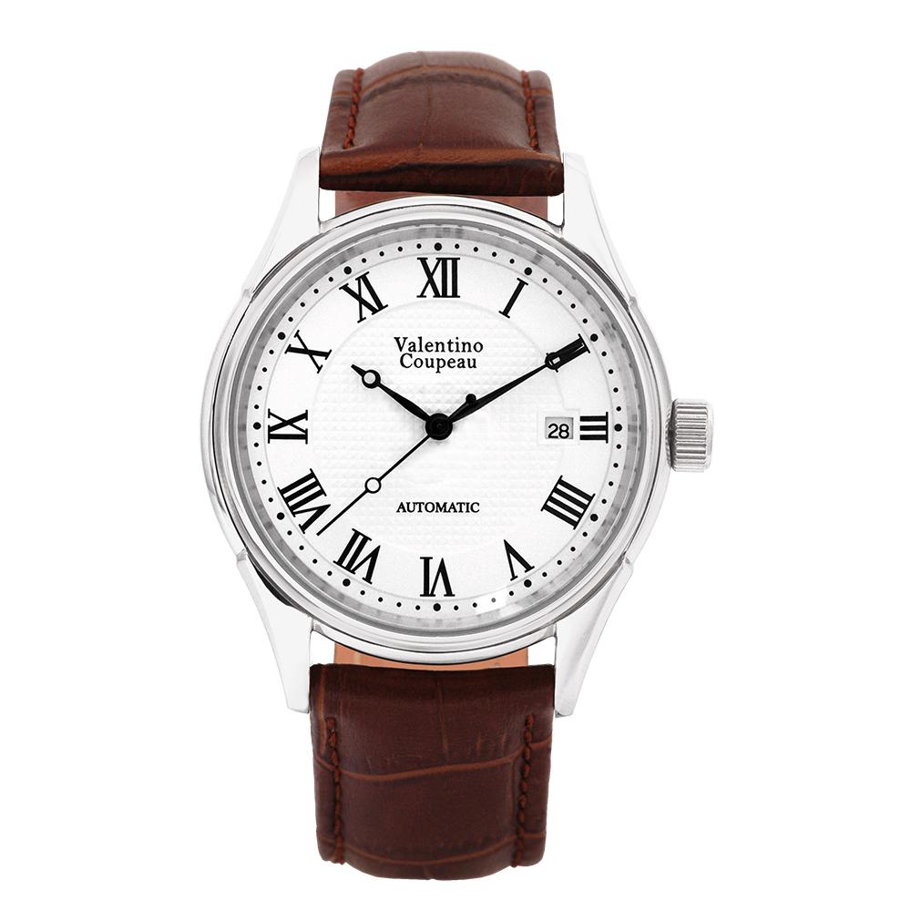 Valentino Coupeau 范倫鐵諾 古柏 經典羅馬機械錶(白殼/白面/咖皮)