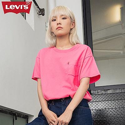 T恤 女裝  短袖純棉TEE  背面大Logo  單口袋 - Levis
