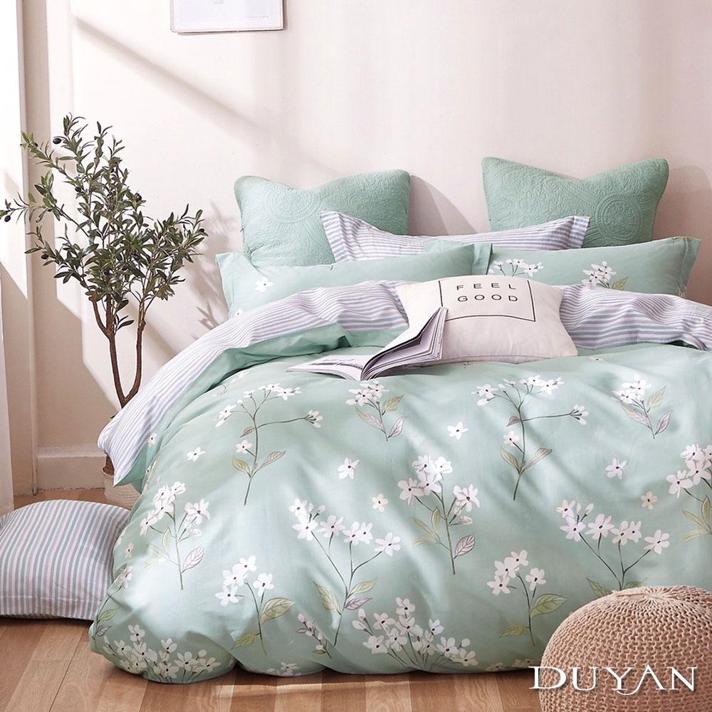(均一價)DUYAN竹漾-100%精梳純棉-單/雙/大床包被套組-多款任選 台灣製 (桐雪漫舞)
