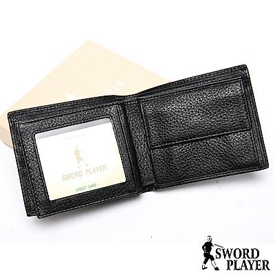 SWORD PLAYER - 莎普爾商務菁英專屬真牛皮4卡2照零錢袋短夾