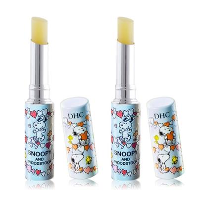 DHC 純橄欖護唇膏-史努比限定版1.5gX2-多款可選[淺藍色/粉紅色/黃色]