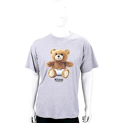 MOSCHINO Underwear 內褲泰迪熊寶寶灰色棉質T恤(男款)