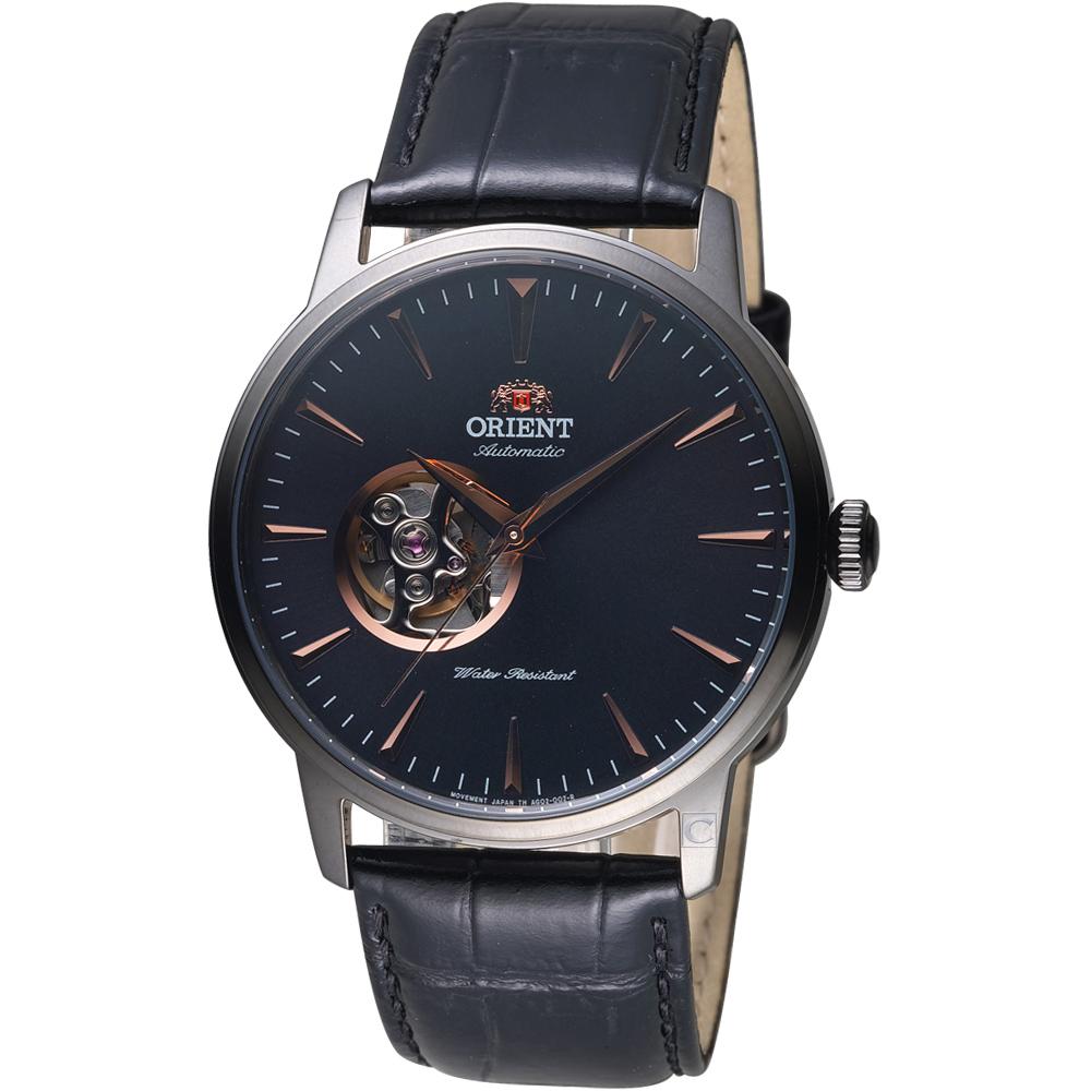ORIENT東方錶SEMI-SKELETON系列半鏤空機械錶(FAG02001B)