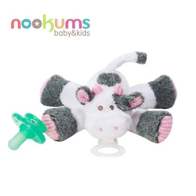 nookums 美國  寶寶可愛造型安撫奶嘴 / 玩偶 - 乳牛寶寶