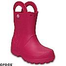 Crocs 卡駱馳 (童鞋) 經典提把雨靴-12803-6X0