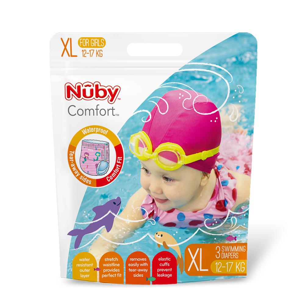 Nuby 游泳尿布(女XL)