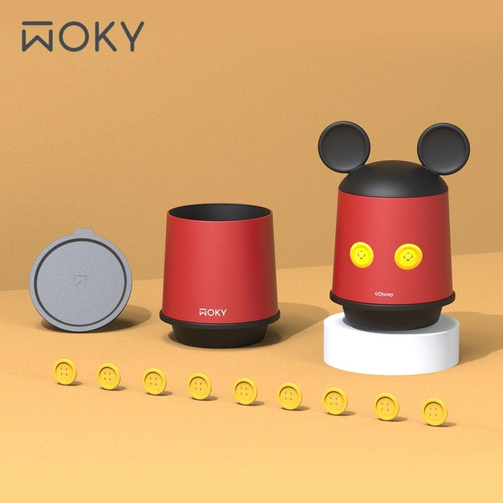 WOKY限定 迪士尼米奇款360°輕芯鈦瓷真空雙蓋保溫杯350ml(帽子杯)