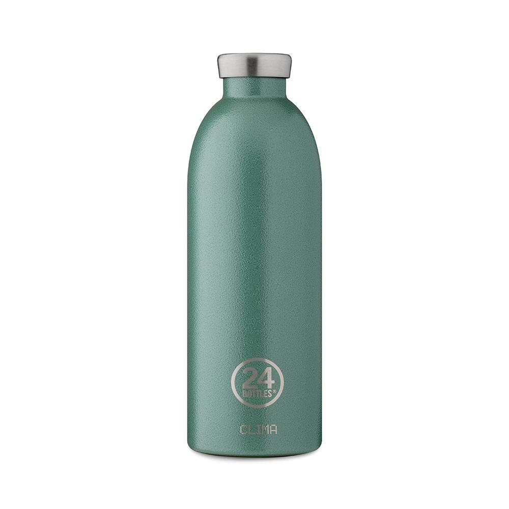 義大利 24Bottles不鏽鋼雙層保溫瓶850ml-祖母綠