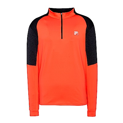FILA男抗UV吸濕排汗T恤-桔紅 1TES-5300-OR