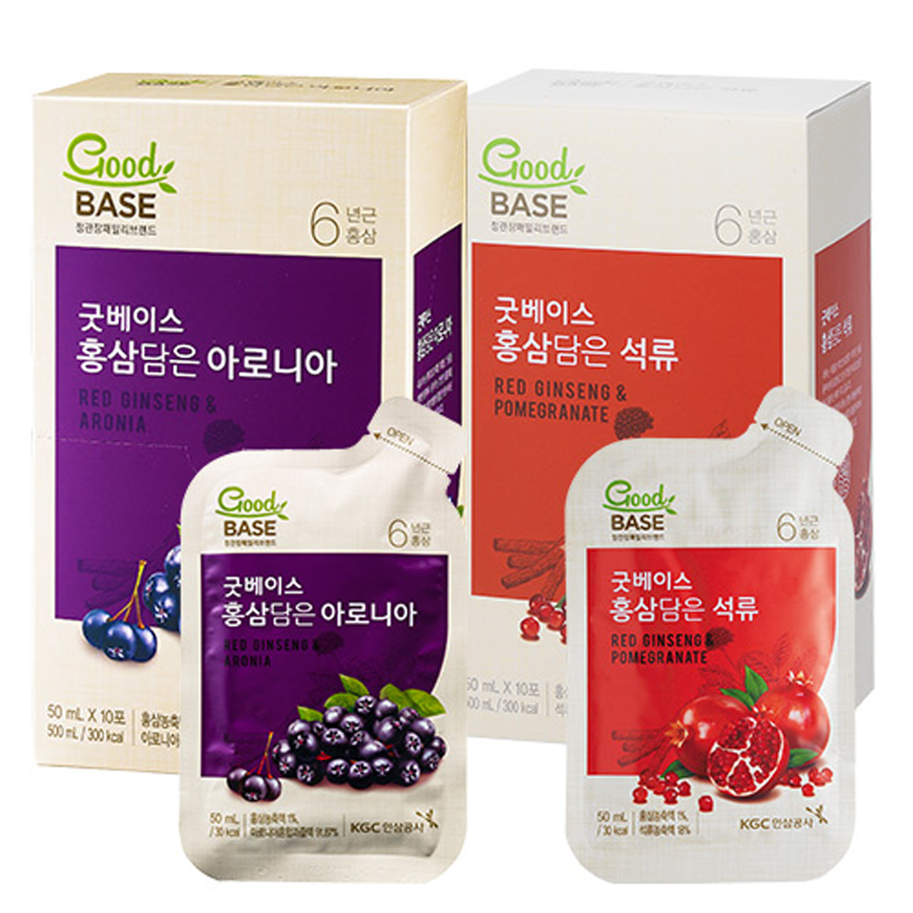 正官庄 高麗蔘野櫻莓飲10入+高麗蔘紅石榴飲10入