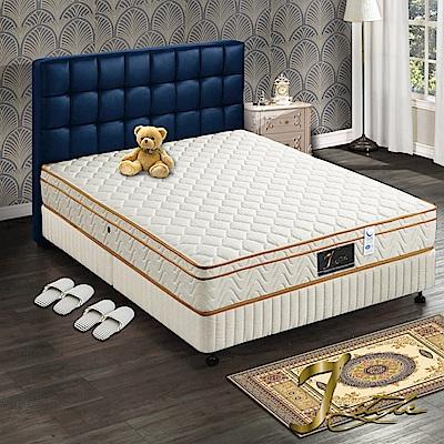 J-style婕絲黛 飯店款3M防潑水+蓆面二用彈簧床墊 雙人加大6x6.2尺