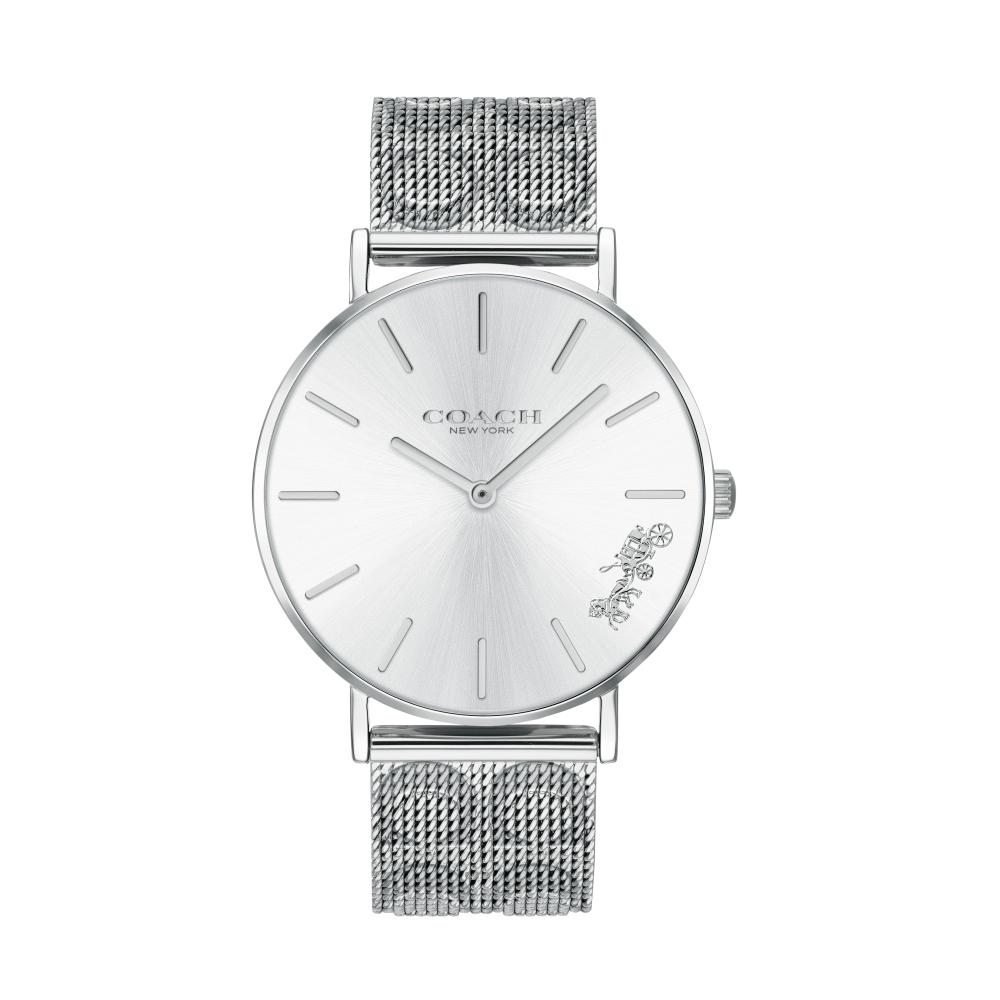 COACH 米蘭時尚設計款腕錶/銀色14503341