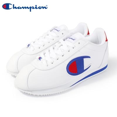 【Champion】Champion FG 復古慢跑鞋 電繡大LOGO阿甘鞋 女鞋-白/藍(84-2220103)