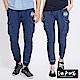 EDWIN 江戶勝窄版貼袋束口褲-中性-石洗藍 product thumbnail 1