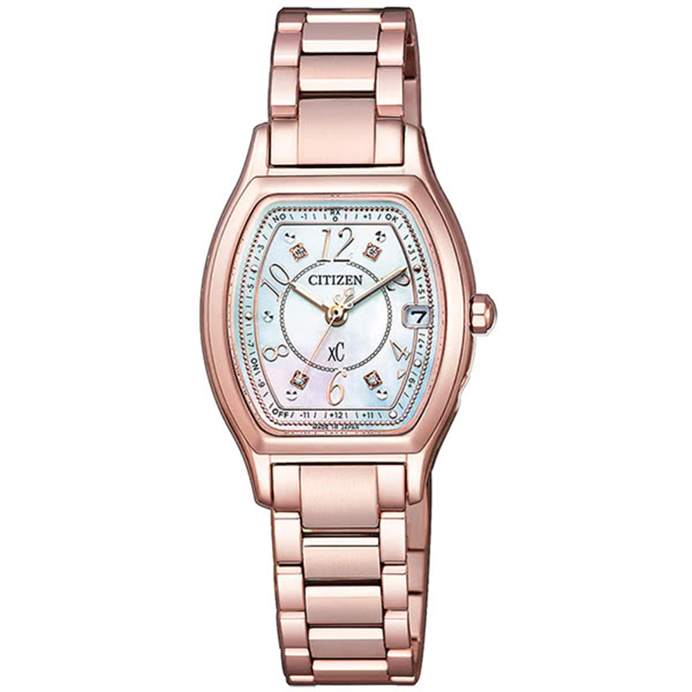 CITIZEN 星辰 xC 限量光動能電波白蝶貝時尚女腕錶(ES9356-55W) @ Y!購物