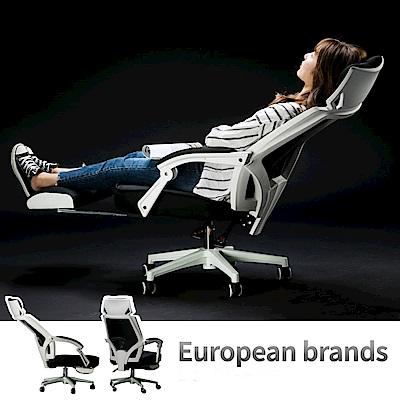 IDEA-新一代加大頭枕舒適高背電腦椅-附腳托.PU靜音滑輪