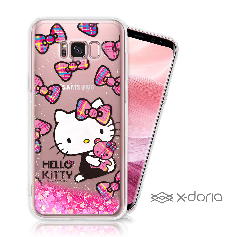 Hello Kitty SAMSUNG S8 Plus 亮片流沙手機軟殼 - 熊熊