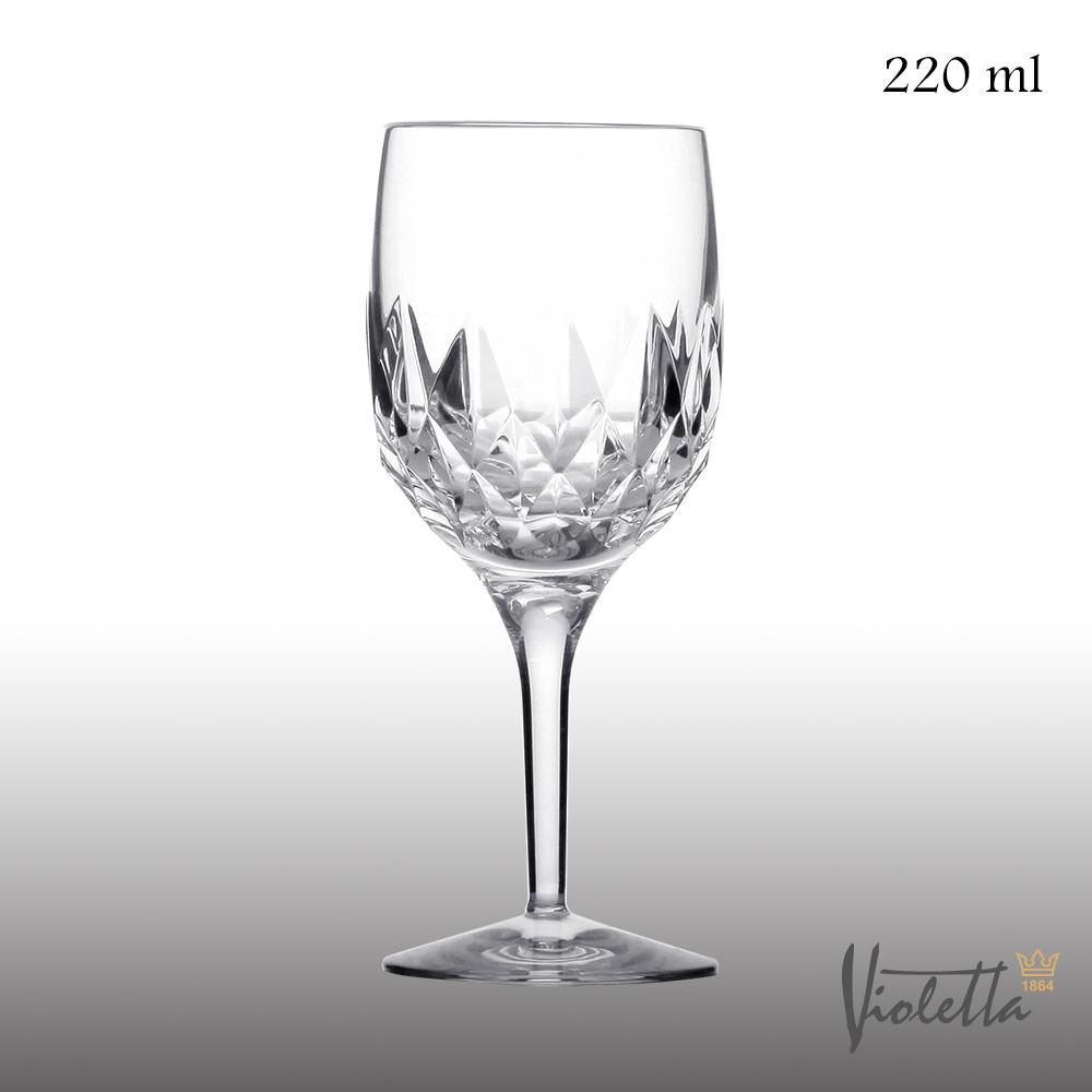Royal DukeVioletta古典型鑽石白酒杯220ml(一體成形水晶杯)
