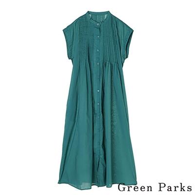 Green Parks  胸口抓褶設計感連身洋裝